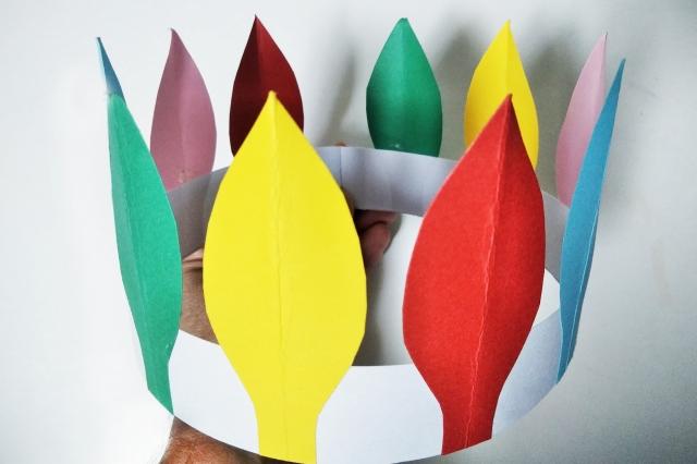 インディアンの羽根かんむり(羽根飾り)の作り方 | まっちゃんの「子どもの遊び場」インフォ!